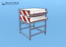 Transport- und Lagergestell für Warnbaken