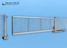 Bauzaun LKW-Tor elektrisch