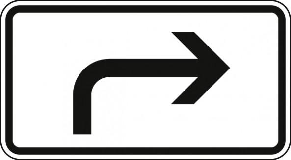 Richtung der Gefahrstelle