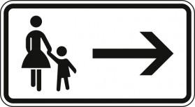 Fußgänger Gehweg gegenüber benutzen