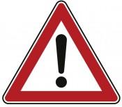 Verkehrszeichen Nr. 101 Gefahrstelle